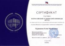 Сертификат Куршаковой ВСО 2014